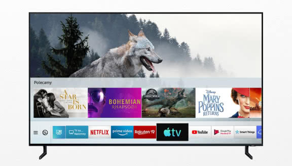 Telewizory Samsung Smart TV z Apple TV i AirPlay 2