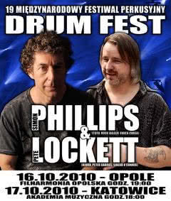 Simon Phillips i Pete Lockett na Drum Fest 2010