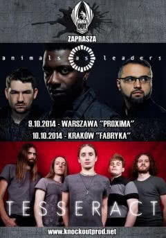 Animals As Leaders i Tesseract na dwóch koncertach w Polsce