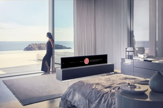 LG SIGNATURE OLED R - tryb Line View