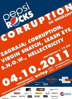 20. urodziny Corruption w Hard Rock Cafe Warsaw