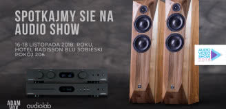 Lewitujący gramofon, kolumny Adam Vox i elektronika Moon - Q21 na Audio Video Show