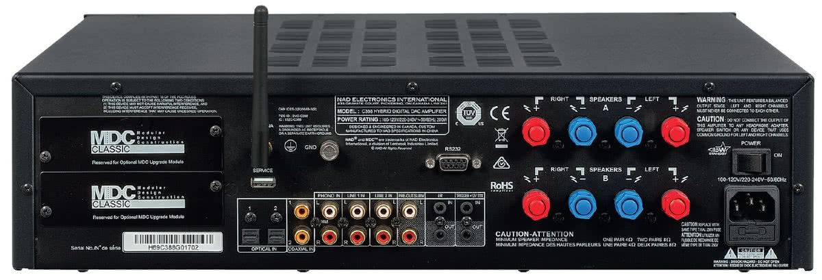NAD C388 - Wzmacniacze stereo | Testy w Audio com pl