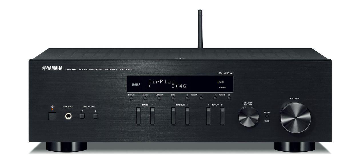 amplituner stereo yamaha musiccast r n303d. Black Bedroom Furniture Sets. Home Design Ideas